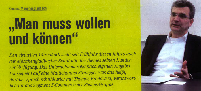 Interview schuhkurier und Thomas Brodowski